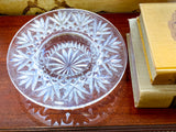 Vintage Marked Waterford Bethany Round Cut Crystal Candle Holder Dish 3