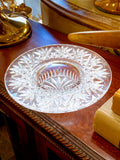 Vintage Marked Waterford Bethany Round Cut Crystal Candle Holder Dish