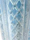 Antique 1931 Rookwood Aqua Glaze Ruffled Rim Lattice Ceramic Vase 6266 Close Up Lattice and Glaze
