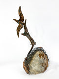 Birds in Flight Sea Sculpture by Artist Curtis Jere Artisan House 1970's Back 4