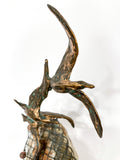 Birds in Flight Sea Sculpture by Artist Curtis Jere Artisan House 1970's Close Up Bird