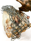 Birds in Flight Sea Sculpture by Artist Curtis Jere Artisan House 1970's Close Up Lobster Net