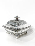 Antique 19th Century Tiffany & Co. Silver Soldered Three Piece Butter Dish Side 1