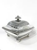 Antique 19th Century Tiffany & Co. Silver Soldered Three Piece Butter Dish Side 2