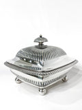Antique 19th Century Tiffany & Co. Silver Soldered Three Piece Butter Dish Side 3