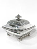 Antique 19th Century Tiffany & Co. Silver Soldered Three Piece Butter Dish Side 4