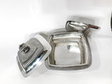 Antique 19th Century Tiffany & Co. Silver Soldered Three Piece Butter Dish Open 2