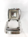 Antique 19th Century Tiffany & Co. Silver Soldered Three Piece Butter Dish Inside Lid and Bottom of Dish