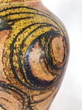 Vintage Pottery Shack Singleton Abstract Autumn Artisan Ceramic Vase Close Up Detail