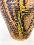 Vintage Pottery Shack Singleton Abstract Autumn Artisan Ceramic Vase Close Up Base
