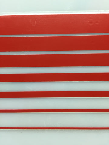 "Boot Stripe Tape, Red, 3 3/8"" wide"