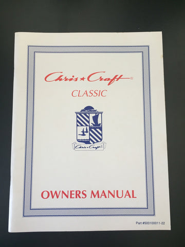 "Chris Craft ""Classic"" Owner's Manual"