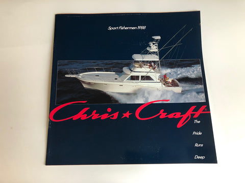 1988 Chris Craft Sport Fishermen Brochure