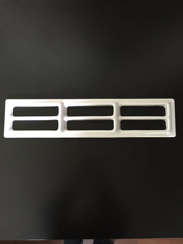 "Vent, 6 slot ABS, White 5 1/2"" x 23 3/4"""