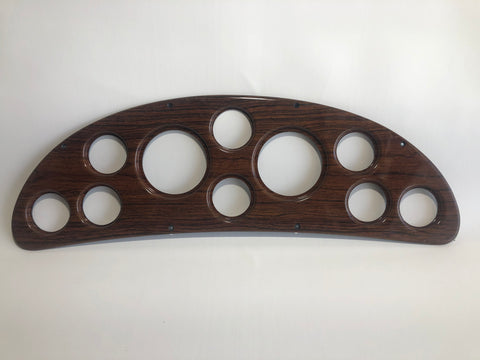 Panel, gauge, teak for 26 Crowne and 26 Express