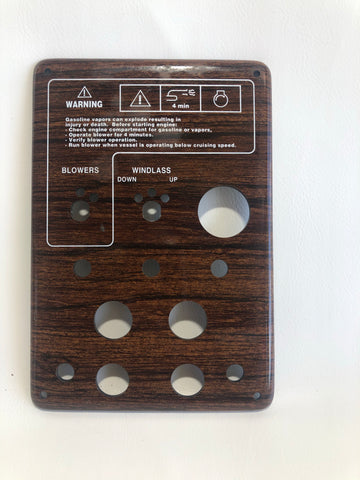 Switch Panel, teak, for 308s