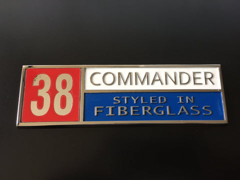 "Commander ""Styled in Fiberglass"" Emblem"