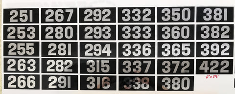 Chris Craft Numbers for Nameplates, Decals, Pair