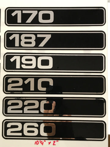 Chris Craft Numbers, Chrome Decal, PAIR