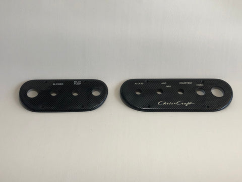 Panels, switch, pair, carbon fiber look, for Concepts