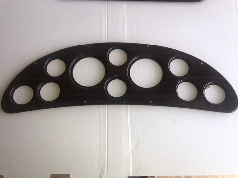 Panel, gauge, rosewood for 26 Crowne and 26 Express