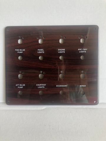 Panel, switches, rosewood for 308