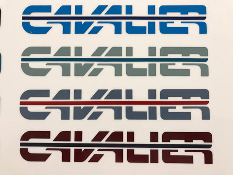 Cavalier Decals, Pair