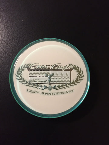 "Crest, 1.875"" diameter, 125th Anniversary Edition"