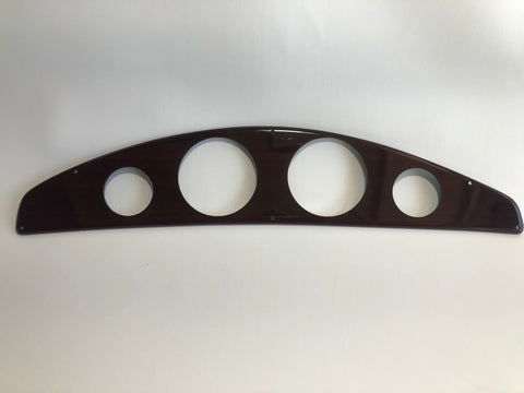 Panel, gauge, rosewood, for 190 bowrider