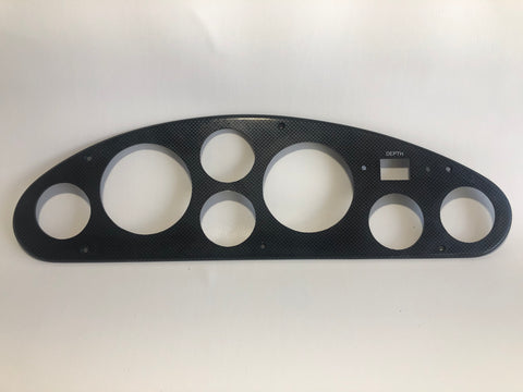 Gauge Panel, carbon fiber look, for 23, 21, 19 Concepts