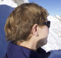 Wind blocking ski sunglasses
