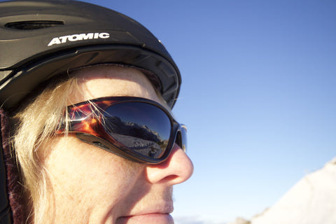 ski sunglasses with AirShield wind protection