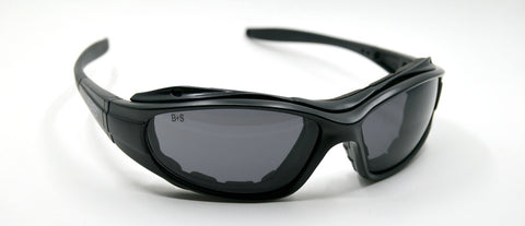 wraparound sport sunglasses with gasket
