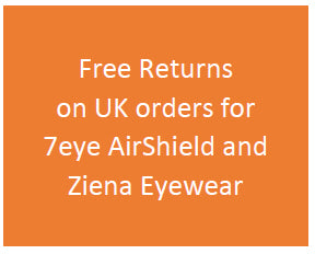 free returns on 7eye AirShield and Ziena Eyewear