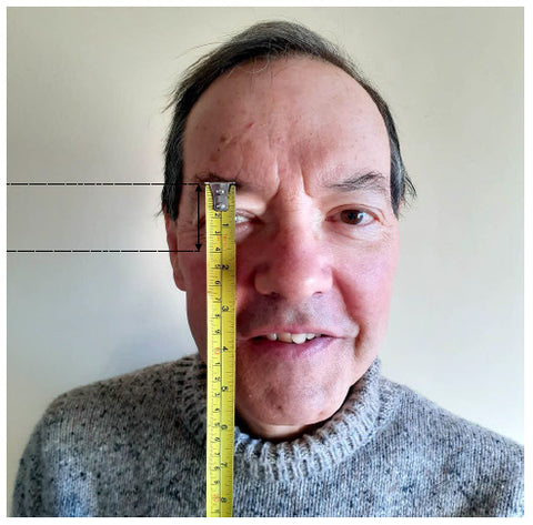 How  to measure eyebrow to cheekbone height