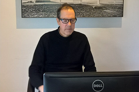 John wearing his Ziena Kai glasses for computer use