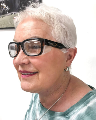 older woman wearing Ziena Marina glasses
