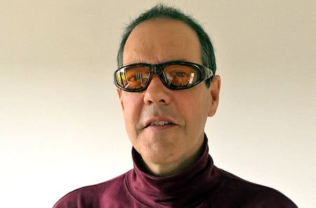 man wearing Body Specs eyewear