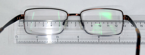 measure the width of your spectacle frame