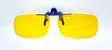 Non polarised yellow flip up sunglasses