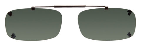 Visionaries rimless clip on sunglasses with spring bridge