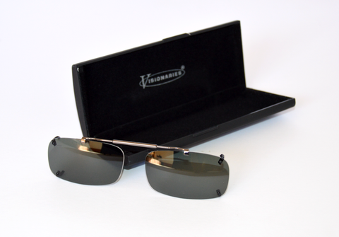 rimless clip on sunglasses