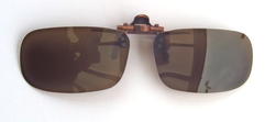 polarised brown flip-up lenses