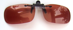 polarised copper flip-up sunglasses