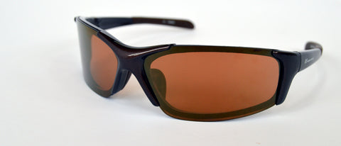 Wraparound sports glasses with interchangeable lenses