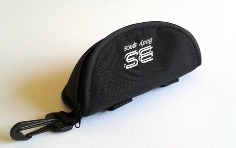 Soft eyewear case with belt strap
