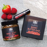 Berry Gift Set by The Balm Boutique shot on slate tile