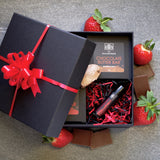 Strawberry and Chocolate Gift Set by The Balm Boutique with Lid