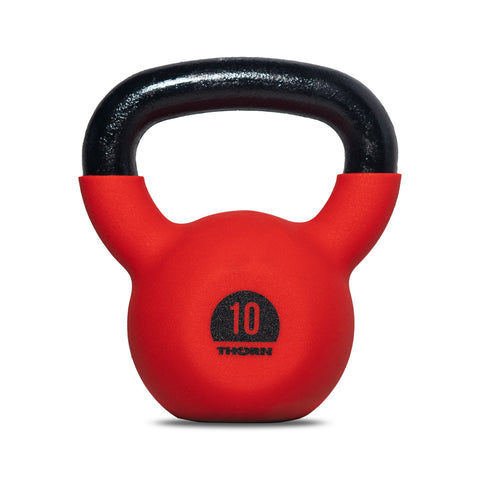 Cast-iron kettlebell with rubber protective coating 10 kg