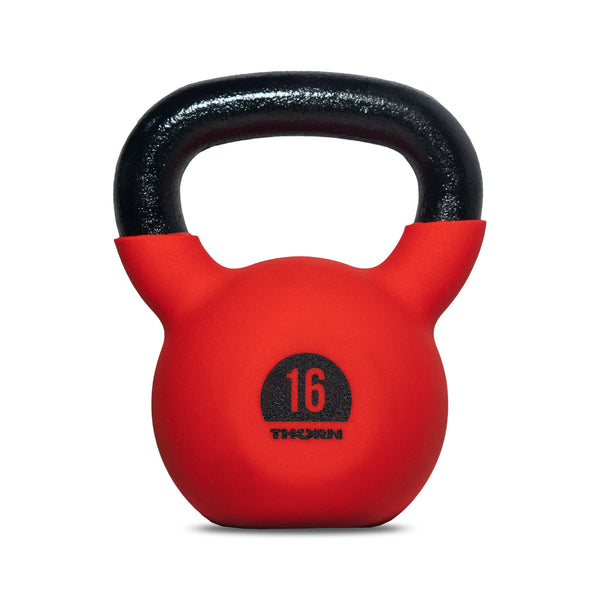 Cast-iron kettlebell with rubber protective coating 16 kg